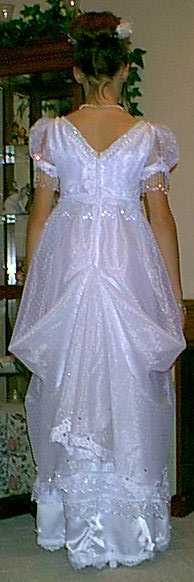 My Fair Lady Pageant Gown, Back View