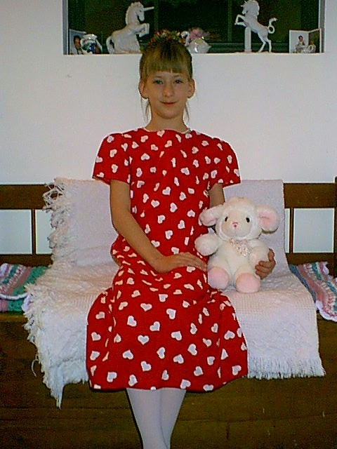 Red Heart Dress 130 pixels